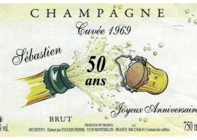 Etiquette anniversaire Champagne