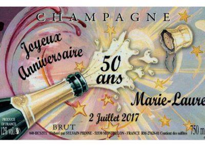 Etiquette personnalisée fête Champagne