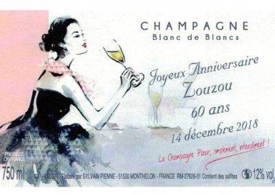 Etiquette personnalisée Champagne