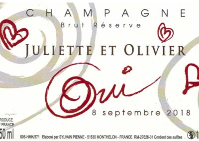 Etiquette mariage Champagne