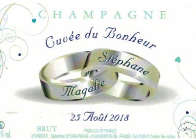 Etiquette mariage personnalisée Champagne
