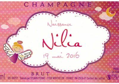 Etiquette personnalisée naissance Champagne